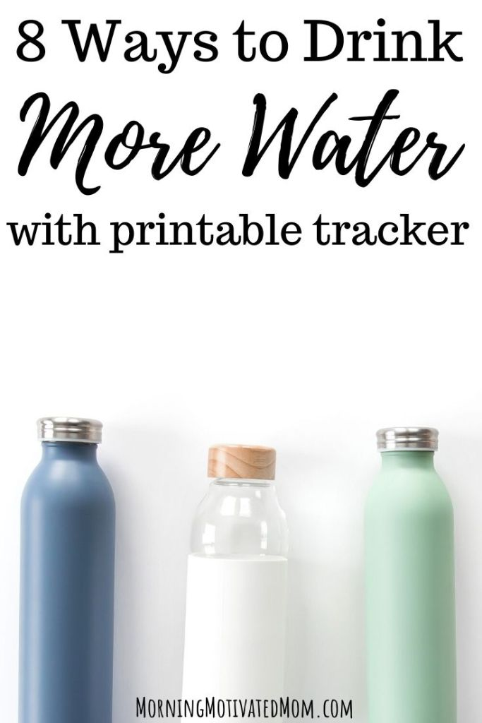 8 Ways to Drink More Water Every Day. I also share a free printable water intake tracker to help you track your daily water intake. Healthy Living Tips | Free Printables to help you prioritize your health.