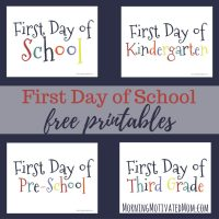 First Day Of School Printables 2016 Chalkboard - first day ...
