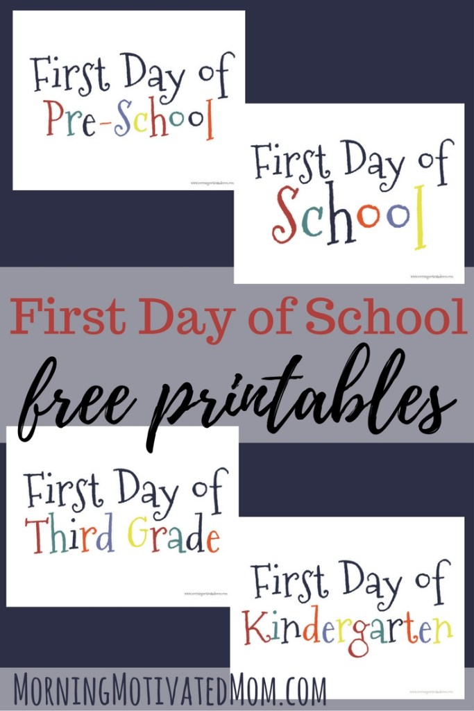 First Day of School Printable Morning Motivated Mom – First Day of School Worksheet