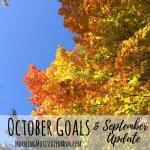 Monthly Goals – October