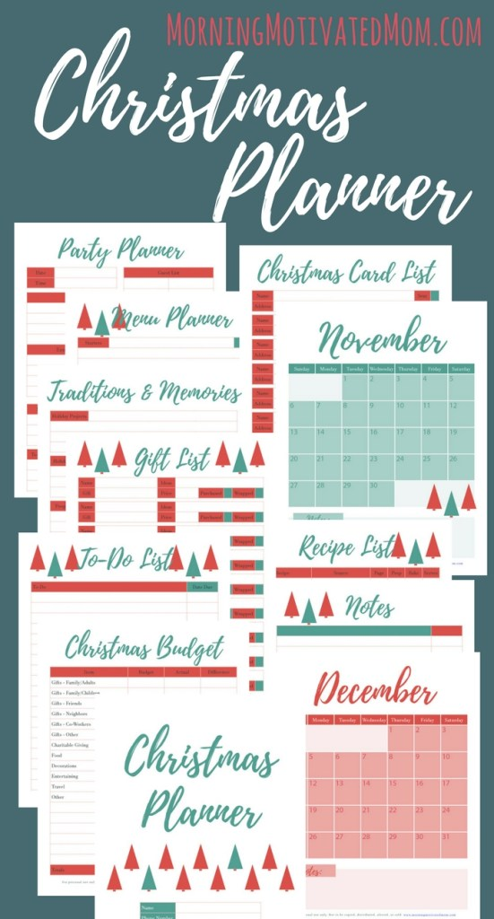 Get organized this Christmas and holiday season with this printable holiday planner.