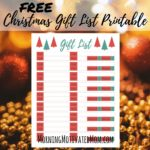 Free Christmas Gift List Printable