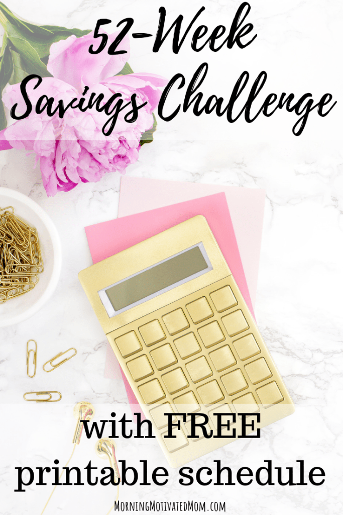 Free 52 Week Savings Challenge Printable. Save money every week and track your progress on the printable. Save Money. Money Tips.