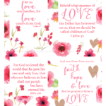 Scripture LOVE printables