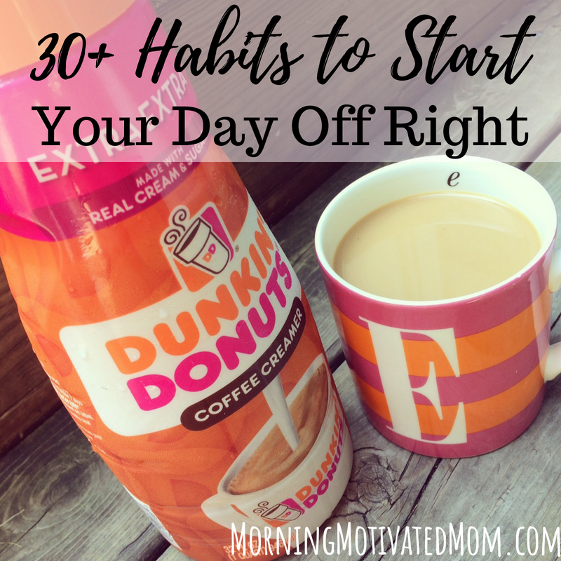 Try and be intentional with the first minutes of your morning. It may help you feel more productive, rejuvenated, and/or more prepared for your day! Here are over 30 daily habits to add to your morning routine.