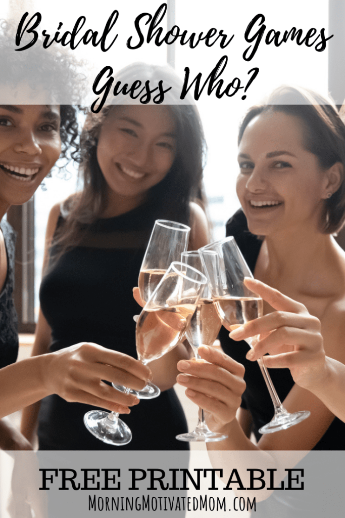 Fun and Low-Key Bridal Shower Games - Bridal Shower Game Printable Guess Who? Bride or Groom. Free Printable Shower Games. #bridalshower #showergames