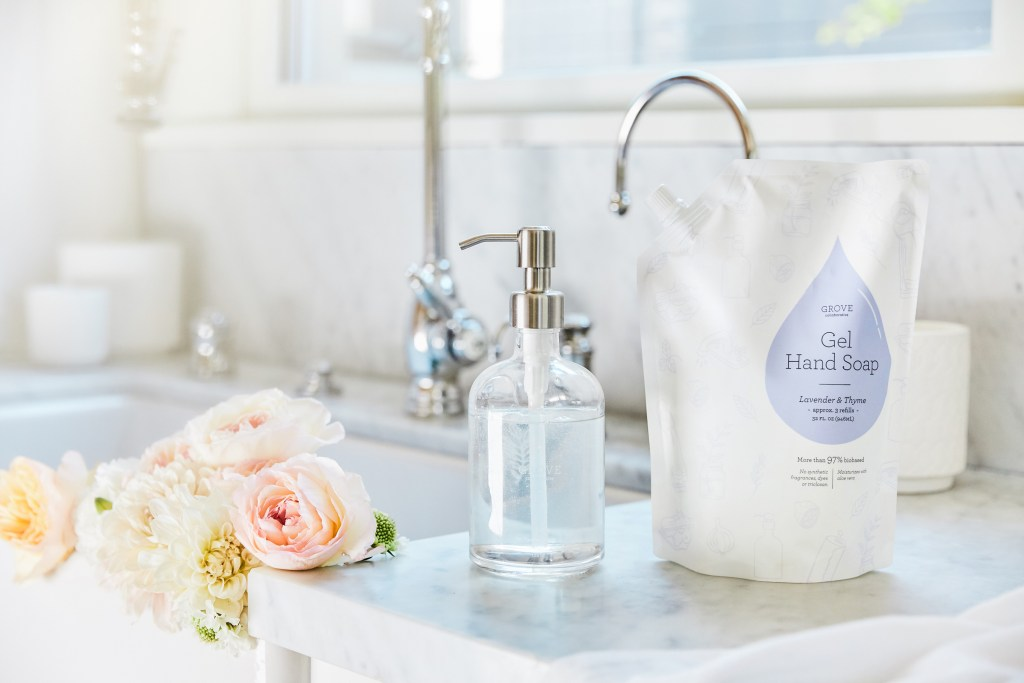 Grove Hand Soap and Refill in Lavender and Thyme. Fresh smelling!