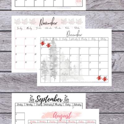 Free Monthly Calendar Printable