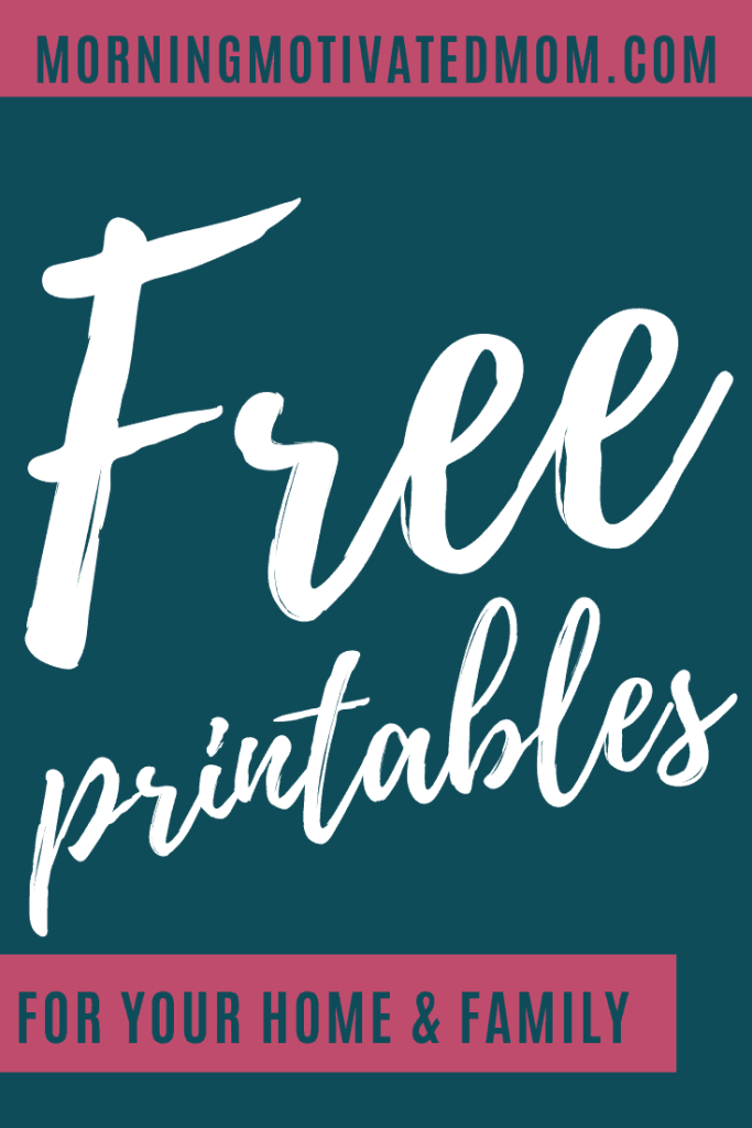Organize your home, family, money, and schedule with the free printables I created! This post includes a list of printables to help you manage your home, your time, your money, and much more. Including printables for kids and holidays too! All the printables are free!