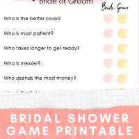 Bridal Shower Game Printable - Guess Who