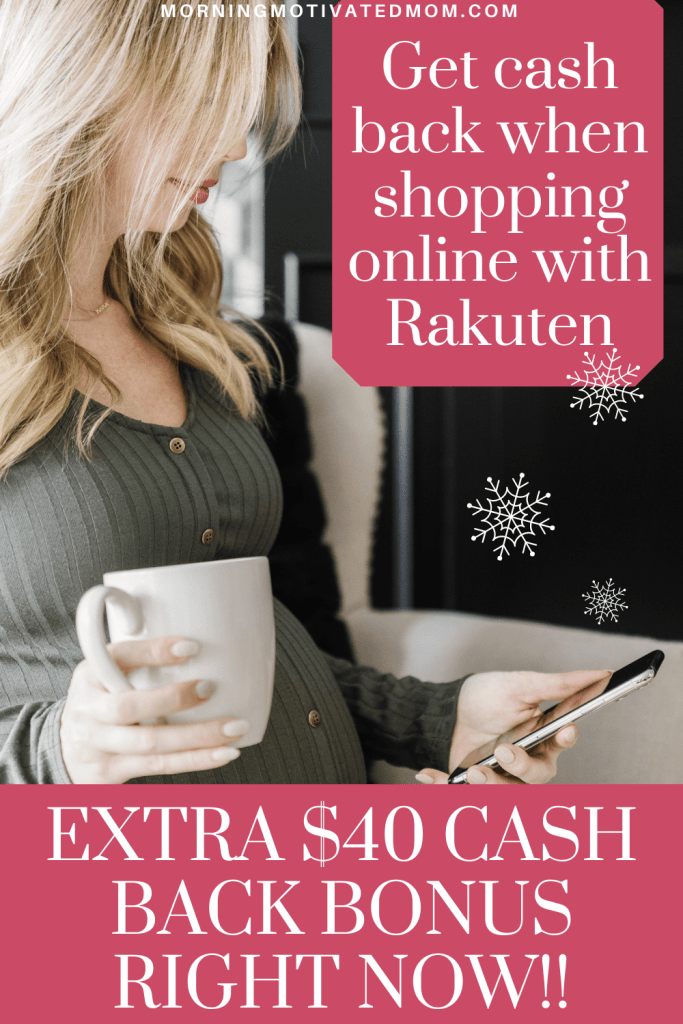 How does Rakuten work? All it takes is a few extra clicks and the extra cash back adds up! You can even get a $40 cash back bonus right now! #frugalliving #easywaystosave #budget #budgeting