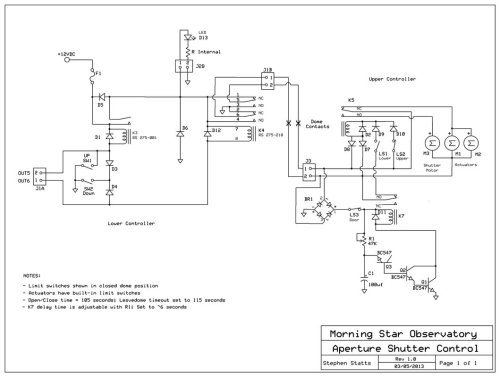 small resolution of the schematic for the shutter controller the circuit is divided into the lower and upper controller boxes along the dashed line