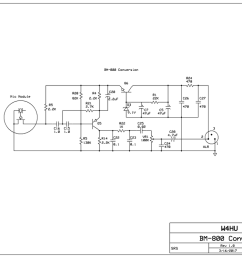 schematic with the component values in my converted bm 800 a few of the part values in my mic circuit vary from the g4izh schematic  [ 1059 x 800 Pixel ]