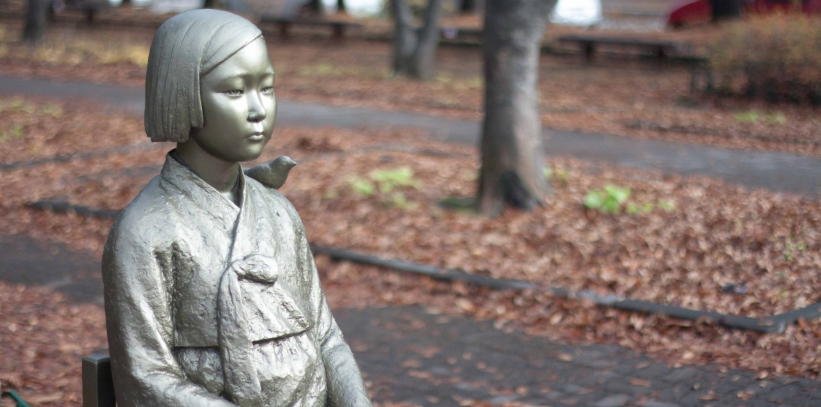 A statue of a Korean 'comfort woman' in Seoul, South Korea. Photo: Yun Ho Lee