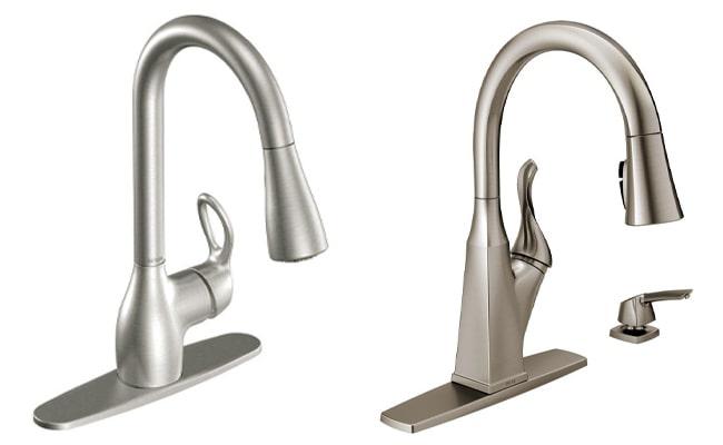 moen vs delta kitchen faucet head to