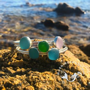 ngton Sea Glass Stacking bangles