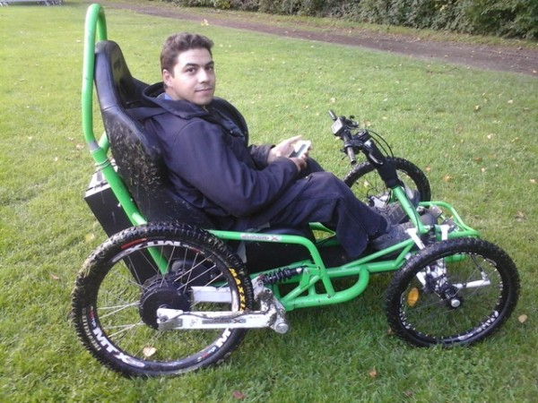 wheelchair man stressless chair moroccan to tour france by electrical