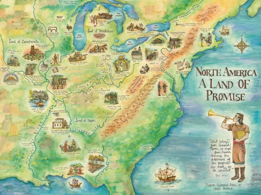 maps moroni s america the north american setting for the