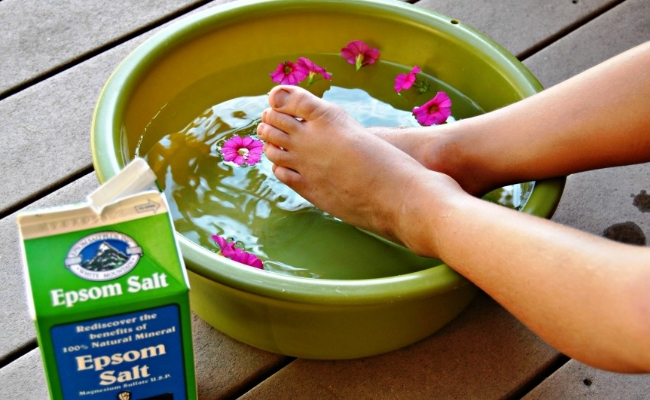 Soak in Epsom Salt - Top 15 Amazing Natural Remedies Present In Your Kitchen