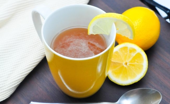 Drink Hot Tea With Lime And Honey
