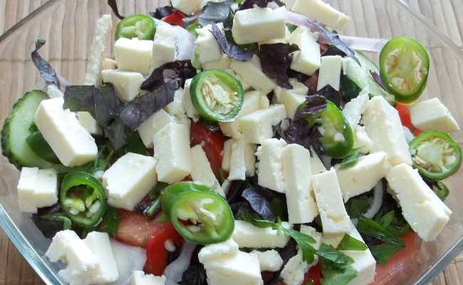 Eat cheese salads