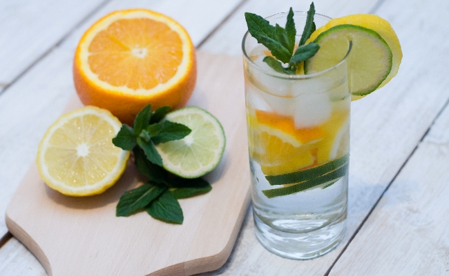 Lime Water And Orange Juice