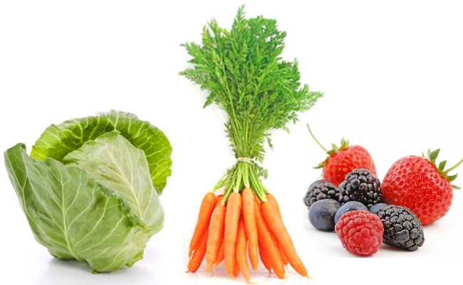 Cabbage, Carrots And Berries