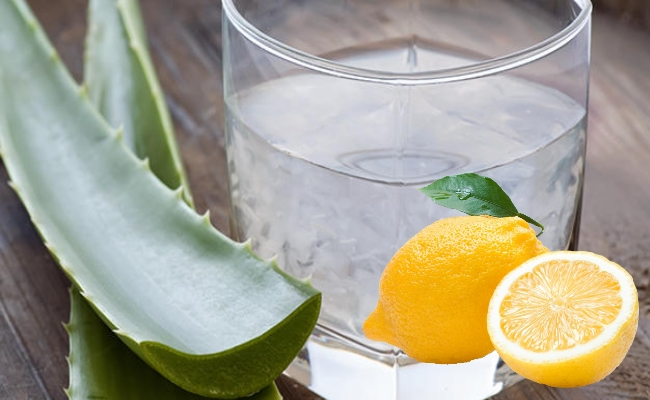 Aloe Vera And Lemon Cooler