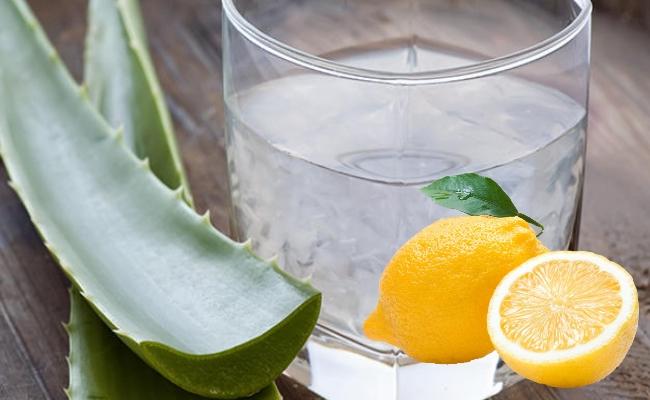 Aloe Vera And Lemon Cooler