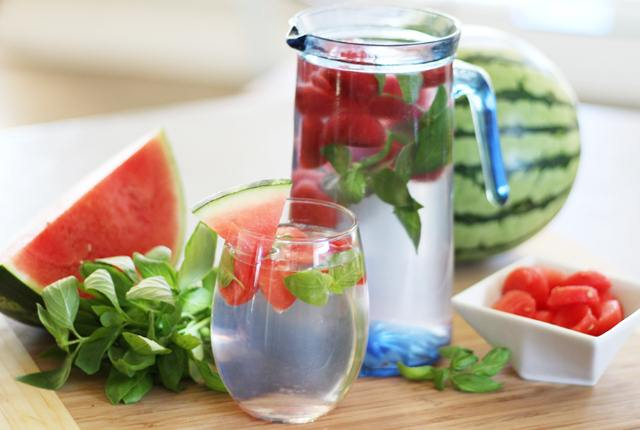 Watermelon-Basil Water
