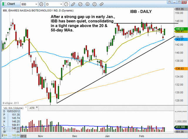 $IBB tight range