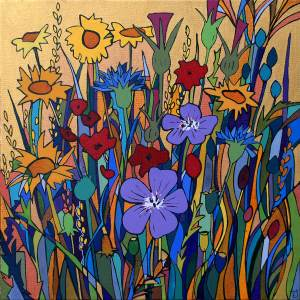 Wild flower meadow, Morrab Gardens by Theresa Shaw, image courtesy of the artist