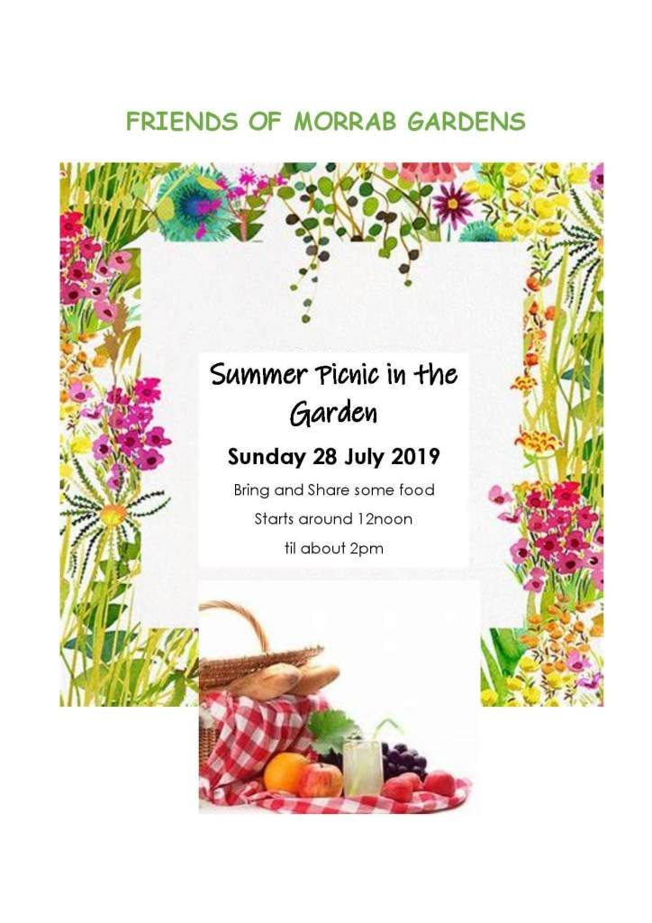 Summer Picnic in the Gardens - bring and share some food