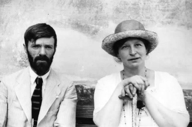 DH Lawrence and his wife Frieda