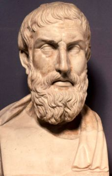 A marble terminal of the philosopher Epicurus - a Roman copy of an original portrait of the 3rd century BC.