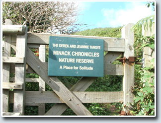 'Oliver Land', accessed from the South West Coast Path, and now managed by the Cornwall Wildlife Trust