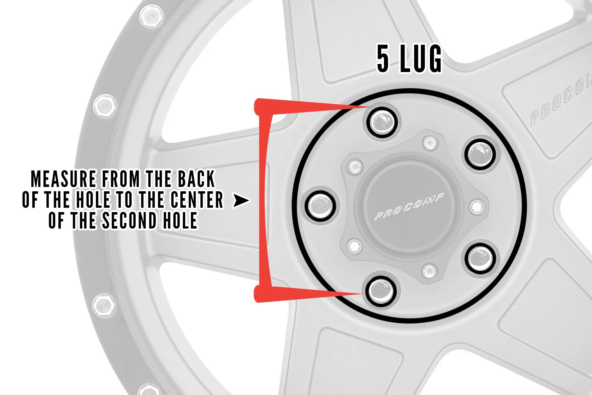 hight resolution of how to measure bolt pattern