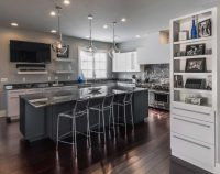 Contemporary White Kitchen in Allentown, PA - Morris Black ...