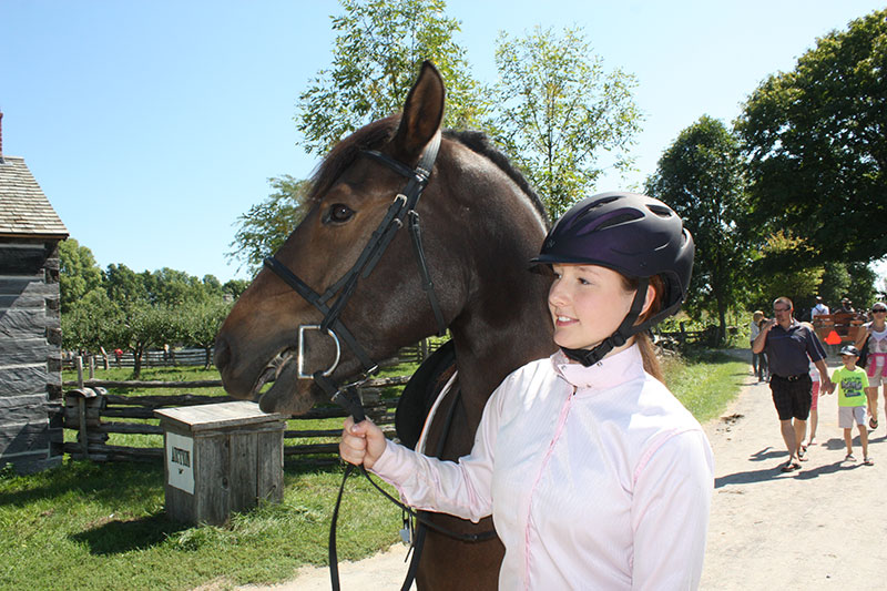 Upper Canada Village Horse Lovers' Weekend draws huge crowds News – September 7, 2016 Edition  A young equestrienne in the Village parade. (Leader photo/W. Gibb)