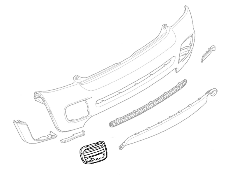 Mini Cooper Jcw Rear Bumper Grille Left Side W/ Pd