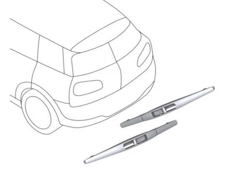 Mini Cooper Wiper Blades Rear Pair Oem Gen3 F54 Cl
