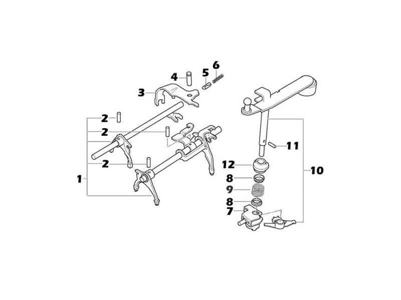 Mini Cooper Gear Selector Parts Midlands 5-spd Oem