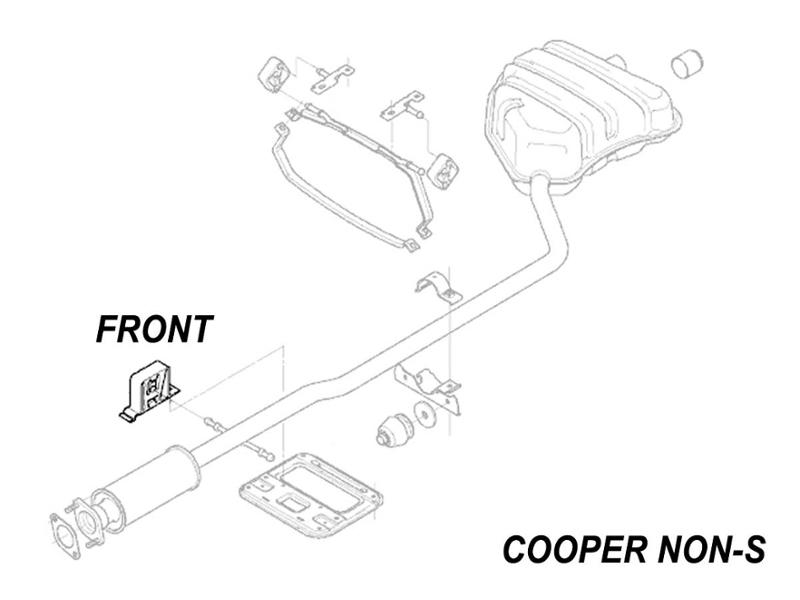 Mini Cooper Exhaust Hanger Donut Oem Gen1 R50 R52