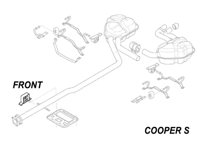 Mini Cooper Exhaust Hanger Front Oem Gen1 R52 R53