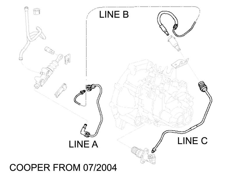 Mini Cooper Clutch Hydraulic Lines Oem R50 R52 R53
