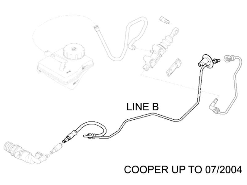 Mini Cooper Hydraulic Line Clutch Slave Line B R50