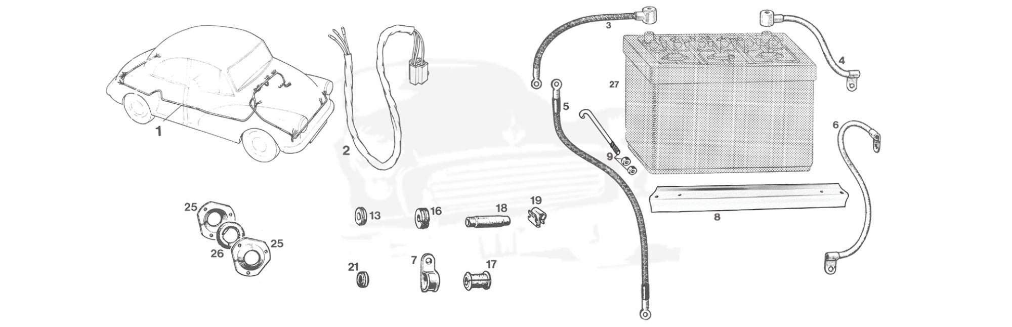 hight resolution of wiring harness battery
