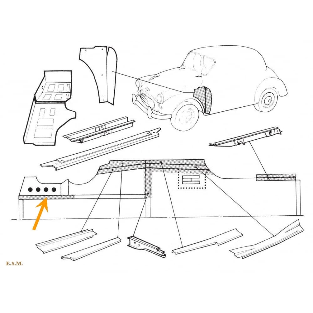 Front Chassis Leg Repair Section L/H (32