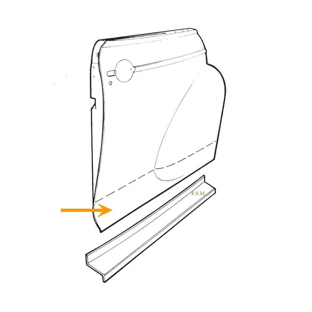 Front Door Lower Outer Repair Panel R/H (2-Door/Trav/Conv