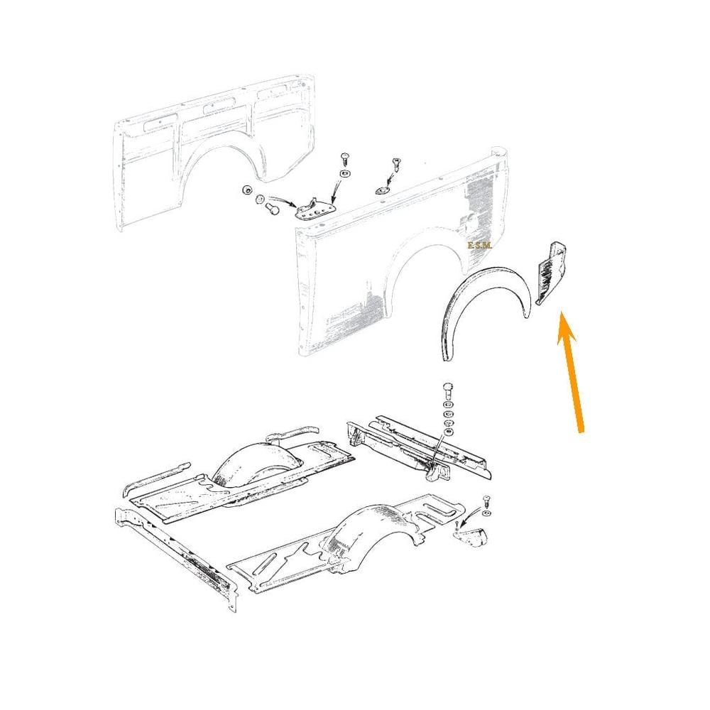 Rear Light Cluster Repair Panel L/H (Van & Pick-Up) (2